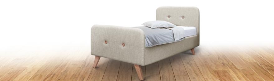 Кровать с мягким изголовьем без подъемного механизма