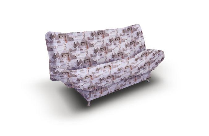 Прямой диван клик кляк Милена 2. Print beige