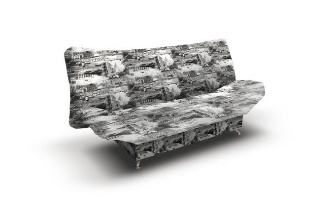 Прямой диван клик кляк Милена 2. Print grafit