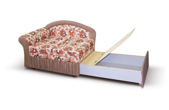 Малогабаритный диван Канапе. Ящик для белья