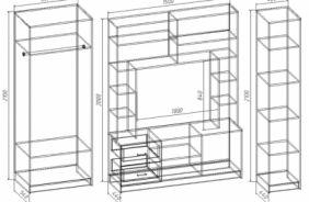 Узкий шкаф–пенал с полками Вик 28
