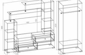 Шкаф 2-х створчатый с зеркалом Вик 34