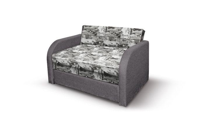 Малогабаритный диван Флинт. Print grafit