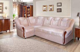 Угловой диван Лаура без бара. Ткань: Laurel 03, Laurel com 03
