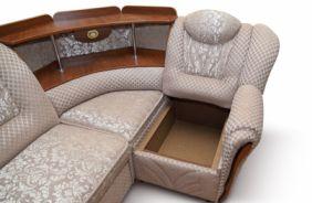 Угловой диван Лаура с баром. С ящиком