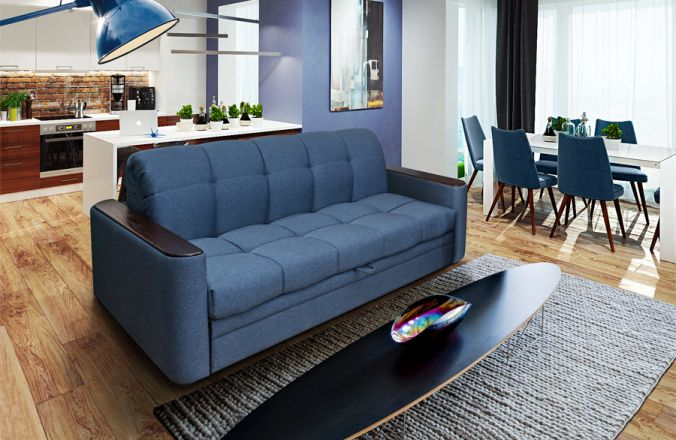 Прямой диван-аккордеон Адриатика