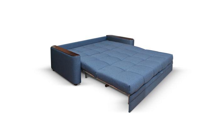 Прямой диван-аккордеон Адриатика. Ткань: Tetra blue