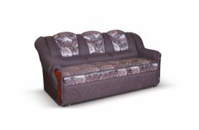 Прямой диван Лаура 170. Ткань: Roze 1, Savana chocolate