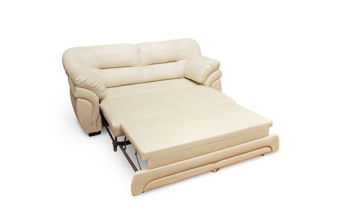 Прямой белый диван из эккожи Гранд. Milk