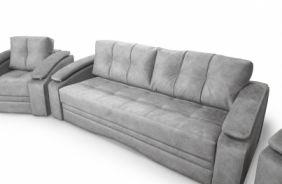 Прямой диван Мадрид Lambre и кресло Мадрид