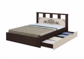 Кровать Жасмин 1,6 м. с ящиками