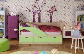 Детская кровать Дельфин 1. Салатовый