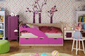 Детская кровать Дельфин 1. Сиреневый