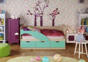 Детская кровать Дельфин 1 (матовый) 1,6 м