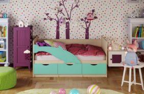 Детская кровать Дельфин 1. Бирюза