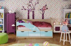 Детская кровать Дельфин. Голубой