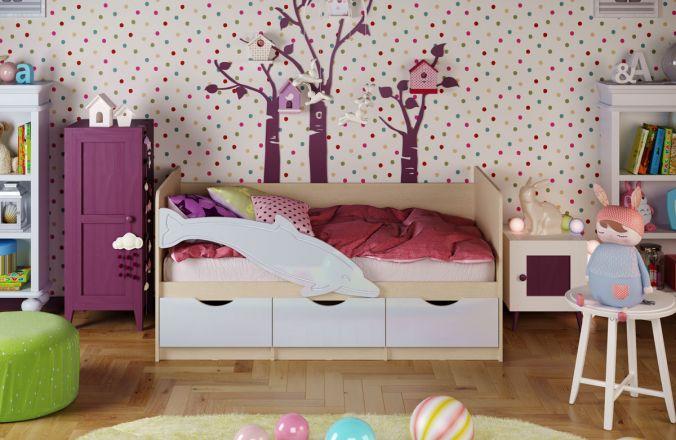 Детская кровать Дельфин. Белый