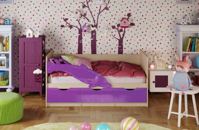 Детская кровать Дельфин. Фиолетовый