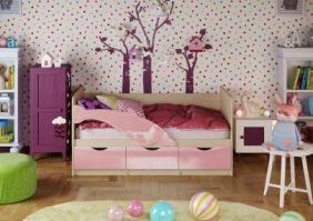 Детская кровать Дельфин 1 (глянцевый) 1,6 м