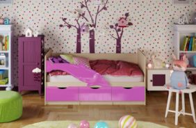 Детская кровать Дельфин. Сиреневый