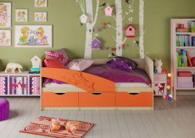 Детская кровать Дельфин (матовый) 1,6 м