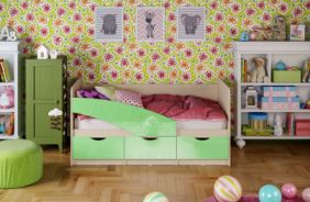 Детская кровать Бабочки. Салатовый