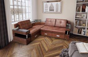 Угловой диван с полками Борнео-1
