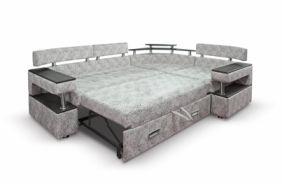 Угловой диван с полками Борнео-1. Спальное место