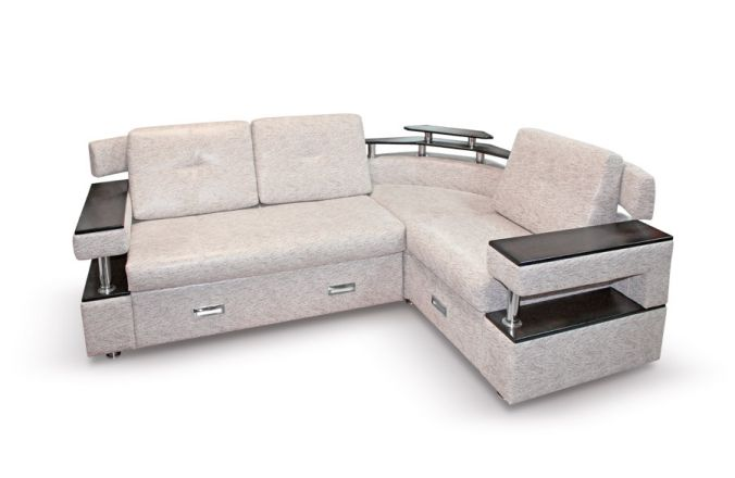 Угловой диван с полками Борнео-1. Beige