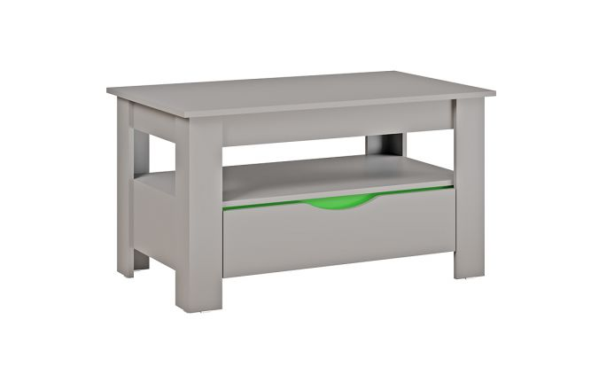Журнальный стол Неаполь. Серый/ Зелёный
