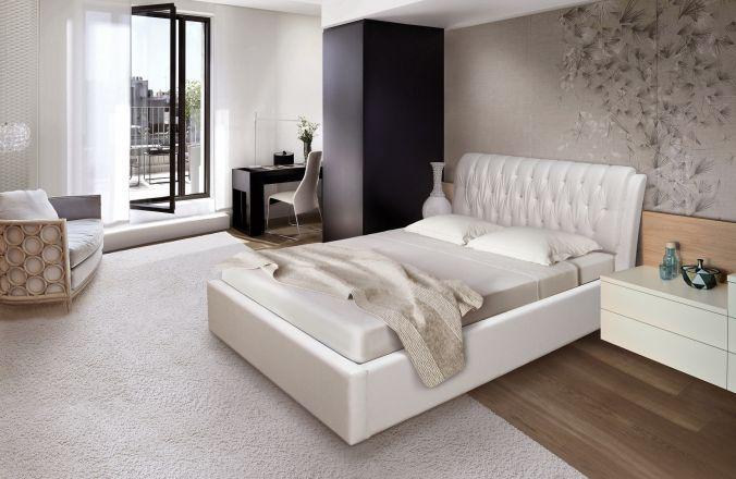 Мягкая кровать клеопатра