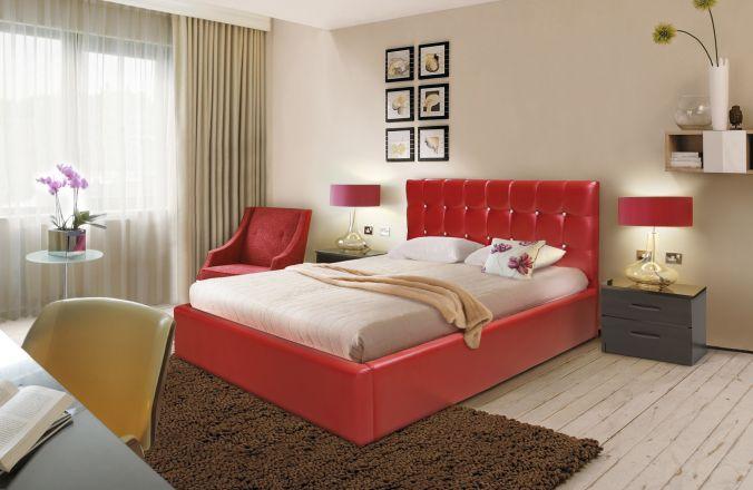 Красная кровать Мелисса в интерьере