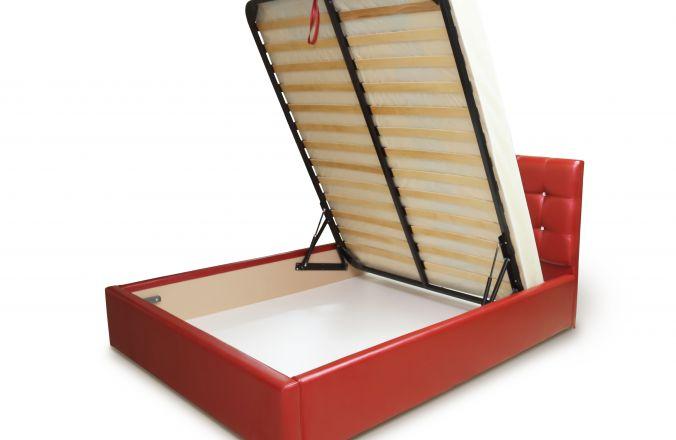 Красная кровать Мелисса с подъемным механизмом