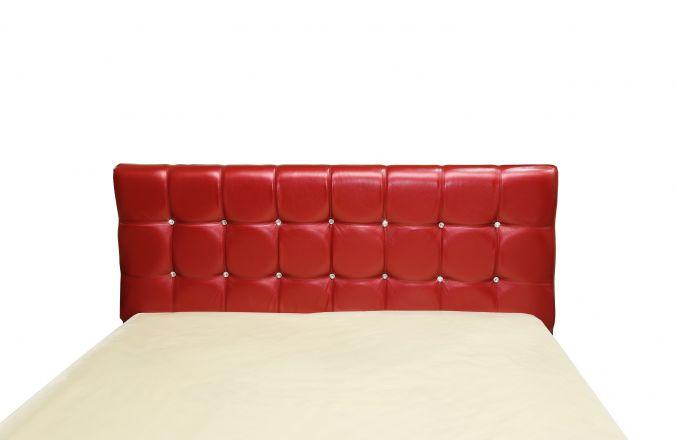 Красная кровать Мелисса со спинкой