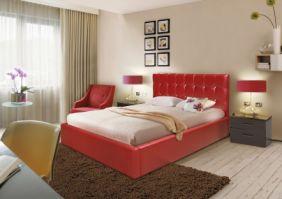 Красная двуспальная кровать Мелисса 2,0 м