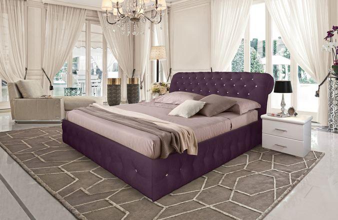 Кровать Корсика. Ткань Velutto 25