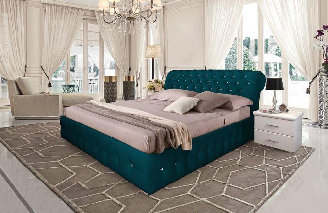 Кровать Корсика. Ткань Velutto 20