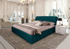 Белая кровать Корсика 1.6 м (Д)