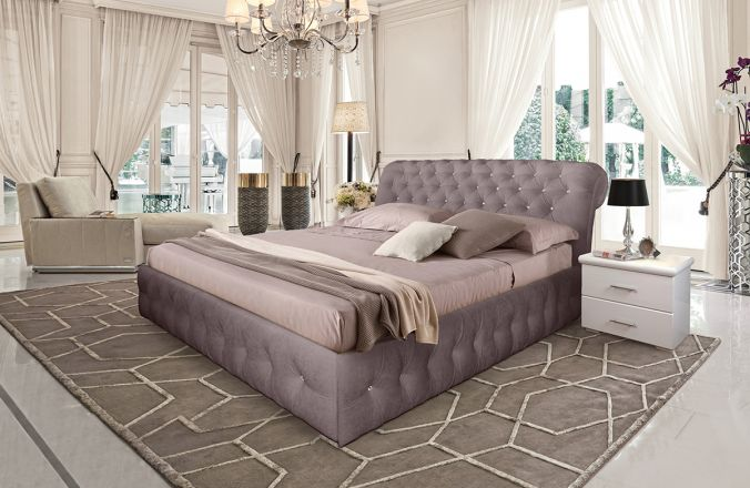 Кровать Корсика. Ткань Velutto 22