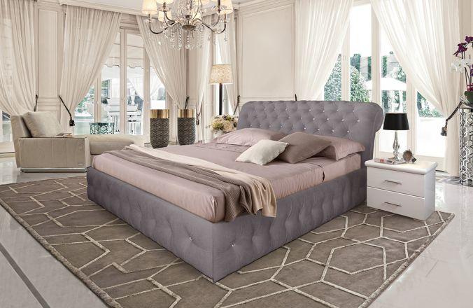 Кровать Корсика. Ткань Velutto 08