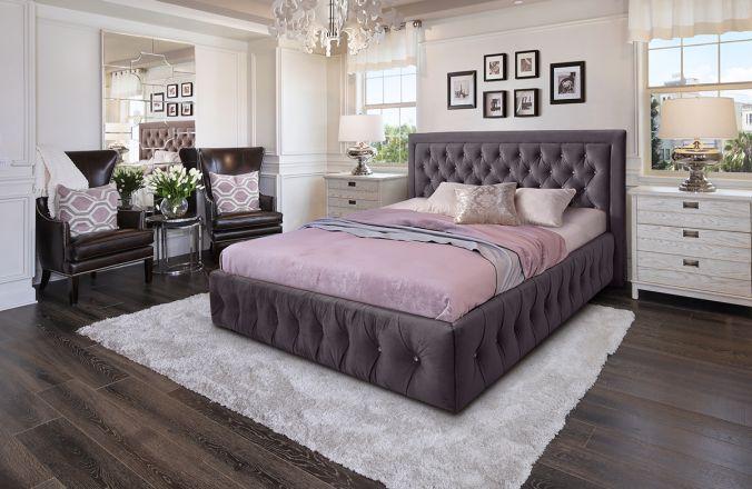 Кровать Мальта. Ткань Veluttto 19