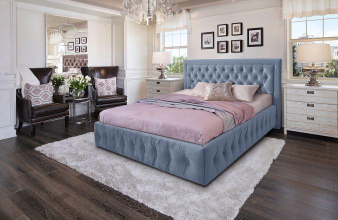 Кровать Мальта. Ткань Veluttto 12