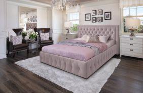 Кровать Мальта. Ткань Veluttto 37