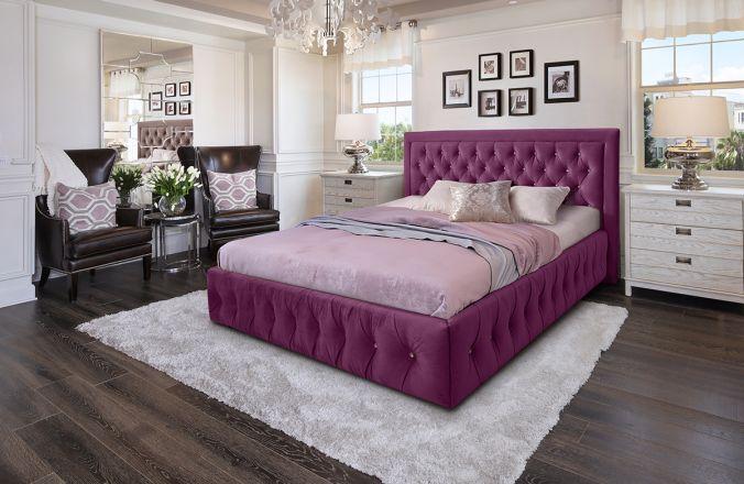 Кровать Мальта. Ткань Veluttto 15