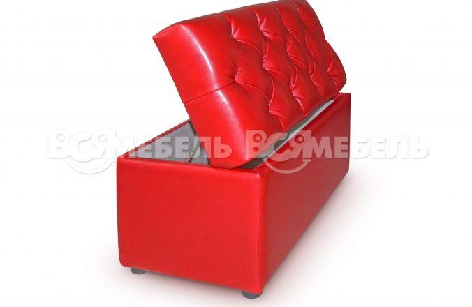 Банкетка с мягким сиденьем и ящиком Севилья 1,0м