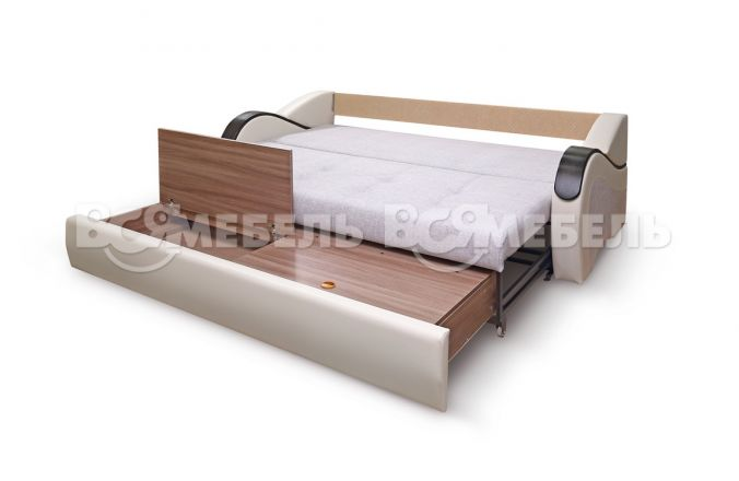 Прямой диван еврокнижка Лондон. Ящик для белья