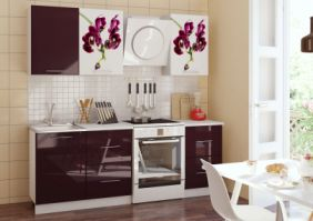 Кухня фотопечать Орхидея-1 1,7м