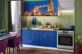 Кухня с фотопечатью Лондон. Готовое решение 1,7