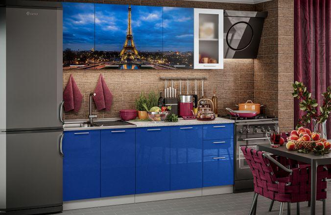 Кухня фотопечать Париж. Готовое решение 2,0 м