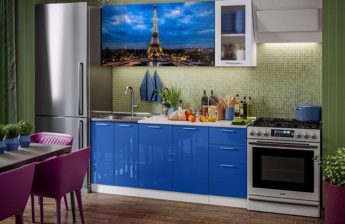 Кухня с фотопечатью Париж. Готовое решение 1,8